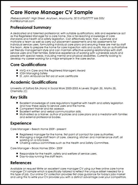 cv layout manager how to write your cv exles letters free sle letters