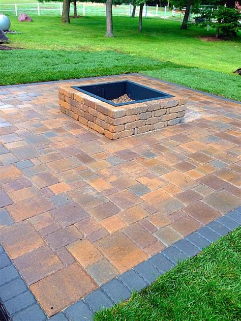 Paver Patio With Pit Paver Patio And Gas Pit Chris Pit On Patio Pavers