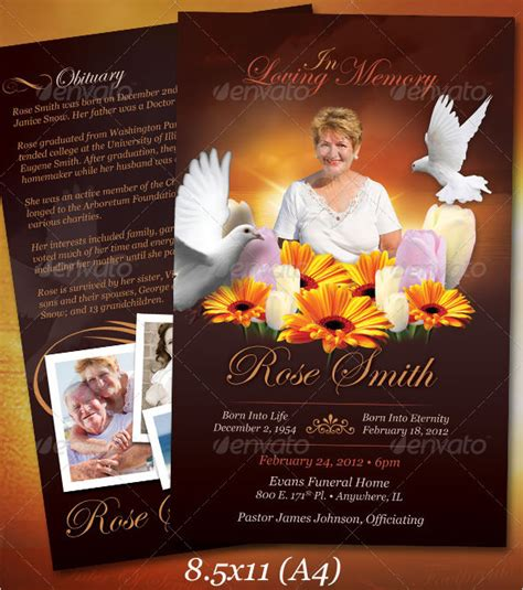 Funeral Obituary Template 25 Free Word Excel Pdf Psd Format Download Free Premium Free Funeral Program Template Photoshop