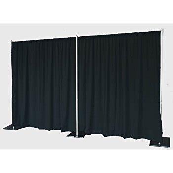 pipe drape com pipe and drape backdrop 8ft x 20ft black