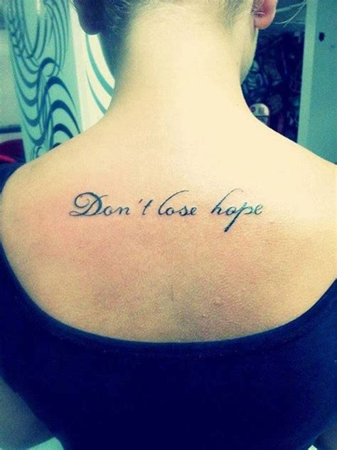never lose hope tattoo don t lose