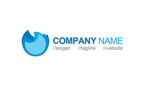 logo template free blue wave logo template 187 igraphic logo