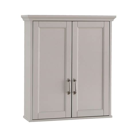 Wall Cabinets For Bathrooms Foremost Ashburn 23 1 2 In W X 28 In H X 7 88 100 In D Bathroom Storage Wall Cabinet In Grey