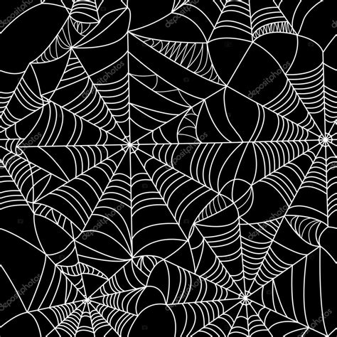 web pattern com halloween spider web seamless pattern stock vector