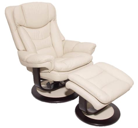 ivory leather swivel recliner chair barcalounger roscoe plymouth mahogany leather pedestal