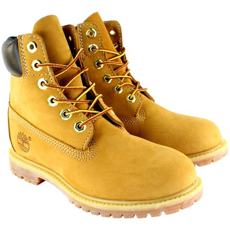 womans timberland boots womens timberland premium wheat classic beige suede