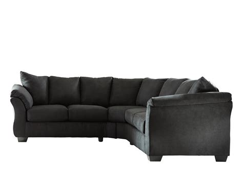 sectional warehouse darcy black 2pc sectional lexington overstock warehouse