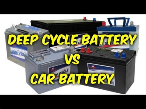 deep cycle battery  car battery youtube