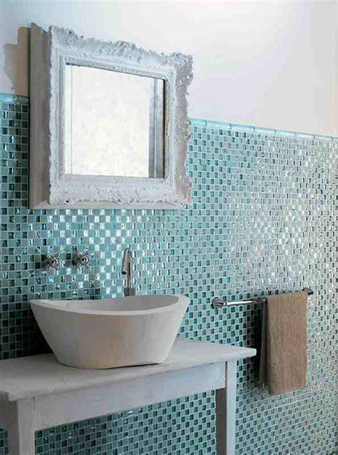 Blue Glass Tile Kitchen Backsplash by Badkamer Idee 235 N Tegels Interieur Inrichting