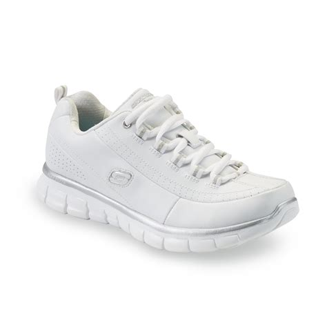 white athletic shoes womens skechers s elite status athletic shoe white shop