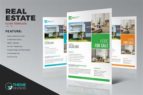 Real Estate Flyer Flyer Templates Creative Market Real Estate Marketing Caign Template