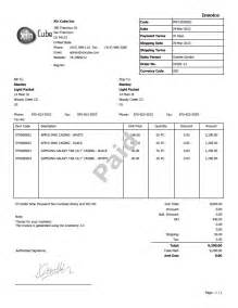 Example Of Invoice Template Invoice Template