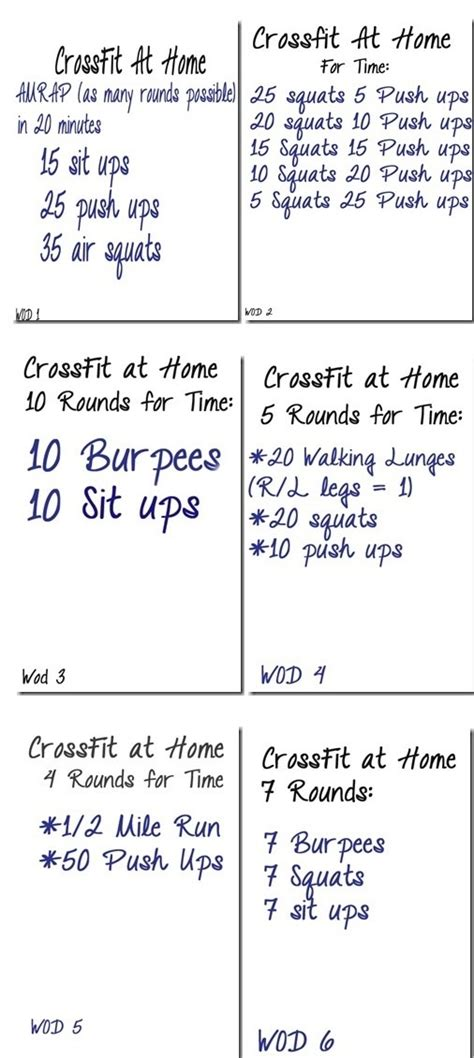crossfit challenge workouts