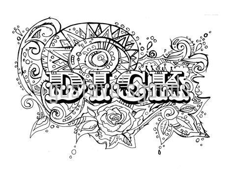 Cuss Word Coloring Book Pages