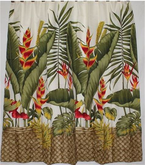 hawaiian shower curtain hawaiian shower curtains home furniture decoration