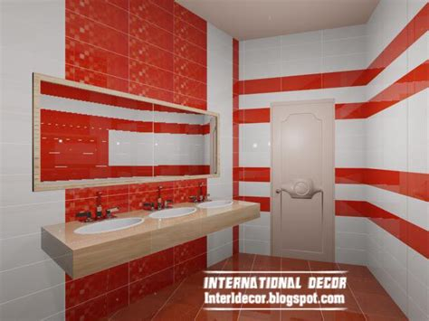 rote fliesen bad modern wall tile designs ideas for bathroom