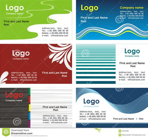 z graphic bussiness cards template 2 x3 1 2 collection business cards templates 2 stock photo image