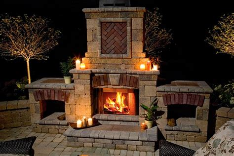 Fireplace Outside by Outdoor Fireplaces