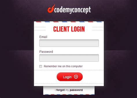 design form login html image gallery login form design