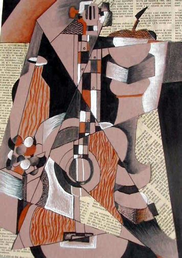 picasso biography for middle school art lesson cubism mixed media collage