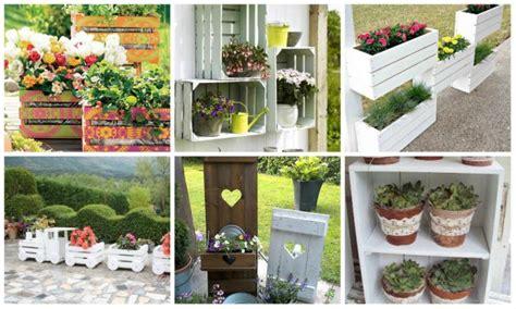 Garten Dekoration Diy by Nette Diy Garten Dekoration Mit Holzkisten Nettetipps De