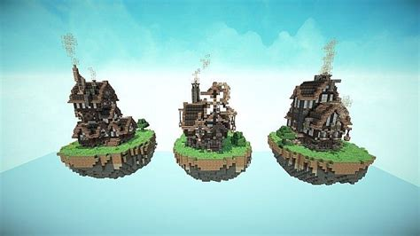 steampunk style map pack minecraft build world