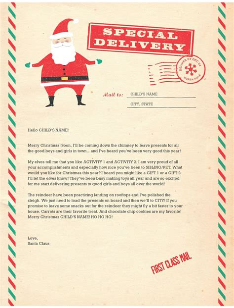 santa letter templates letter from santa template e commercewordpress