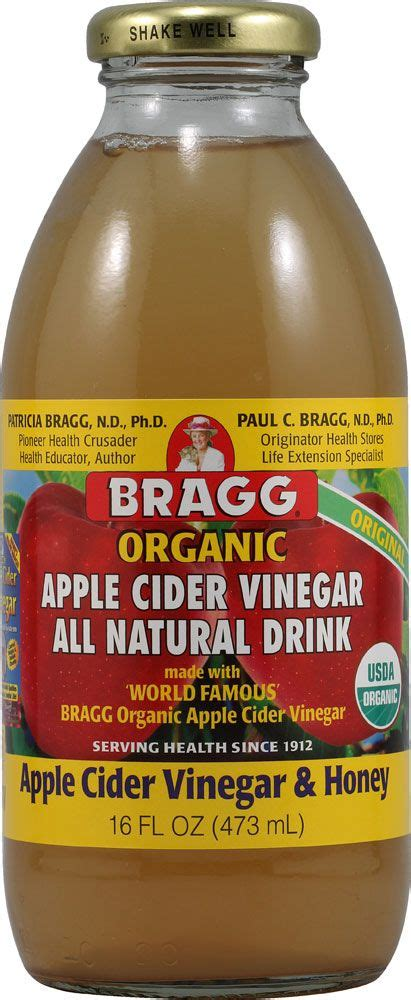 Organic Honey And Apple Cider Vinegar Detox by Bragg Organic Apple Cider Vinegar Drink Honey Health