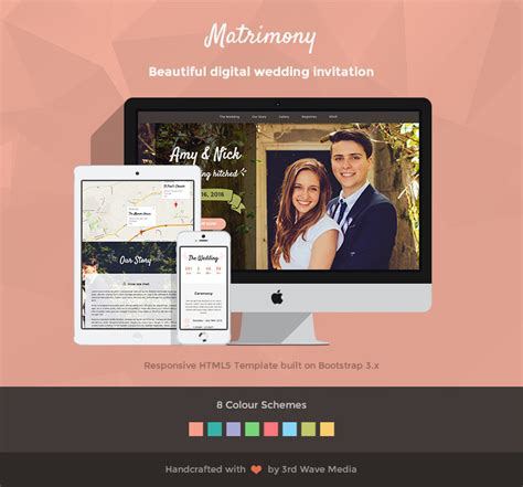 bootstrap templates for wedding responsive wedding invitation template matrimony