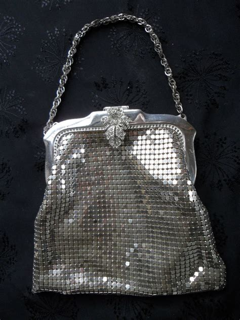 Michael Kors Mesh Hobo Purse by Vintage Whiting Davis Silver Mesh Evening Bag