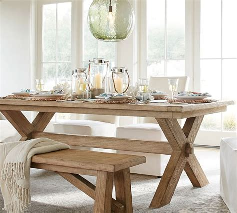 toscana extending dining table seadrift finish pottery