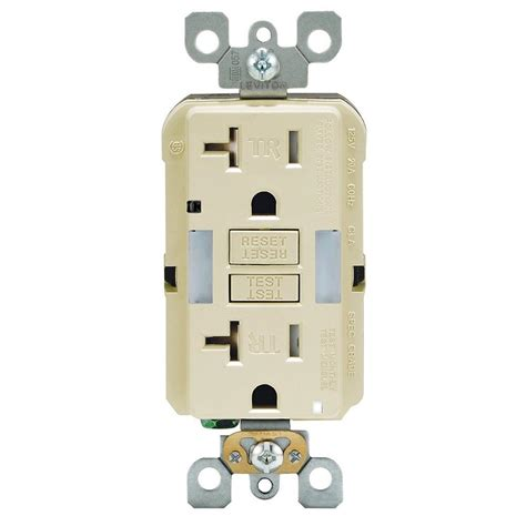 Light With Receptacle leviton 20 smartlockpro ter resistant gfci outlet