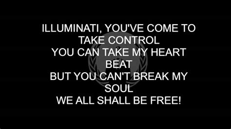 illuminati song illuminati song anonymous lyrics on screen