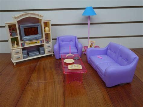 gloria barbie doll house furniture 94014 living room barbie size dollhouse furniture living room with tv dvd