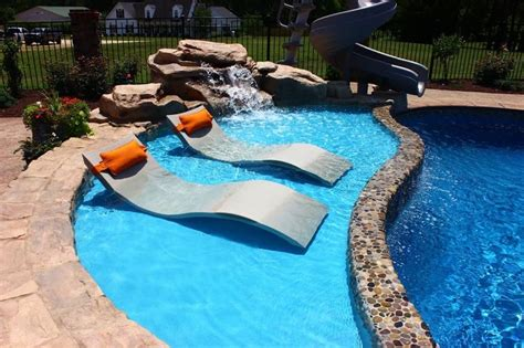 tanning in the backyard fiberglass pool with tanning ledge google search dream