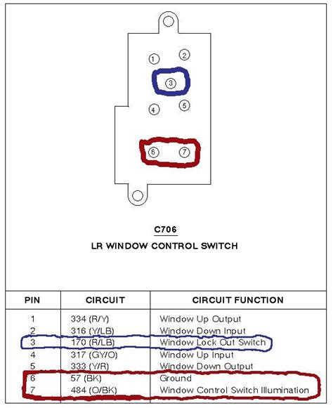 Switch Power Window Panther Master Window Switch Lighting Tidbits