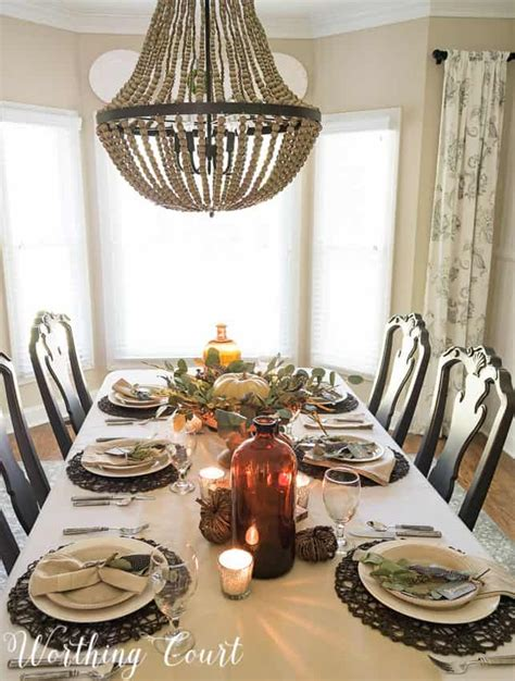 set casual elegant thanksgiving table worthing court