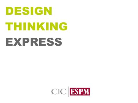 design thinking slideshare aula desing thinking express espm