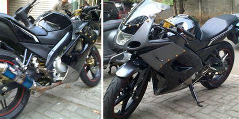 Belakang Rr New Hitam Original Kawasaki Part Sepasang yamaha vixion berkostum kawasaki rr
