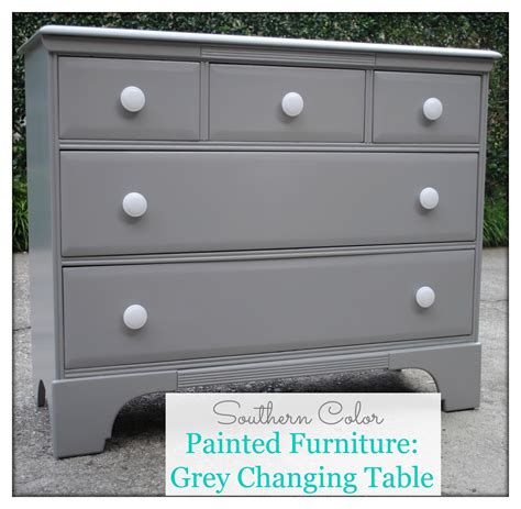 southern color painted furniture grey changing table