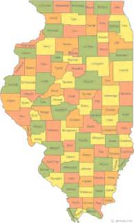 state of county map map of illinois