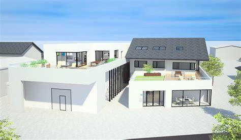 mit wohnung lagerhalle mit wohnung und anbau b 252 rofl 228 che asg architekten
