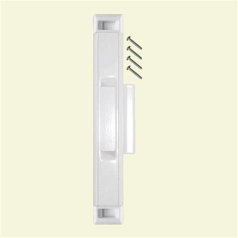 Lockit Sliding Glass Door Lock Rustica Hardware 48 In Flat Black Standard Passage Industrial Handle Lock System Rlsai404pbr