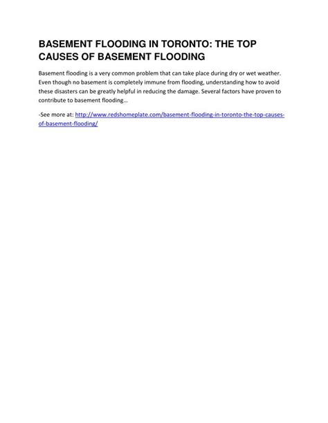 causes of basement flooding ppt basement flooding in toronto the top causes of