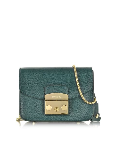 Mini Dress Furla lyst furla metropolis malachite leather shoulder bag in