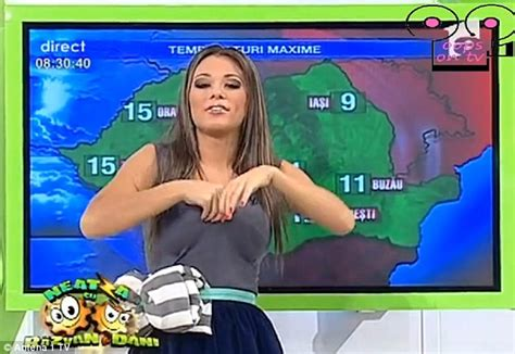 Jordan Banister Weather Presenter Roxana Vancea Accidentally Exposes Her