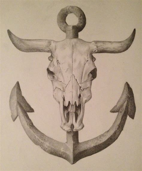 cow skull tattoo gaulin design