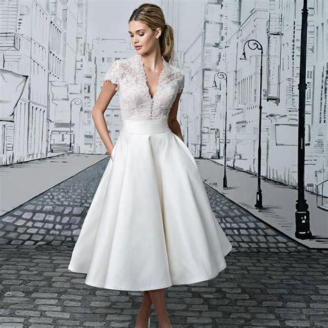 Supplier Baju Tea And Cake Dress Mc tea length wedding dresses the prettiest designs for vintage brides hitched co uk