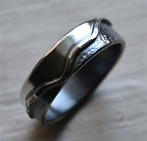 Handmade Mens Wedding Bands - mens wedding band handmade artisan designed by maggidesigns