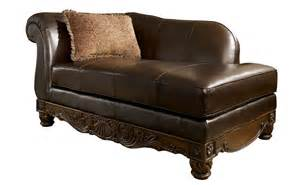 rustic chocolate leather chaise lounge chair with single